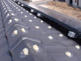 屋根に忌避剤